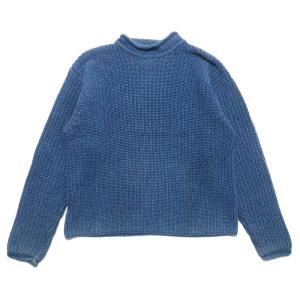 REAL Clothes インディゴ セーター コットン ニット ボトルネック サイズ表記:L