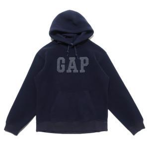 【SALE 40%off】GAP ギャップ フリース スウェットパーカー ロゴ ネイビー サイズ表記...