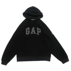 【SALE 40%off】GAP ギャップ フリース スウェット パーカー ロゴ ブラック サイズ表...