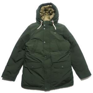 フレッドペリー ダウンジャケット ダウンパーカー ワンポイントロゴ グリーン サイズ表記:M