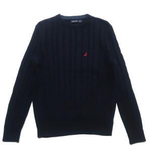 ノーティカ ワンポイント ロゴ コットン ニット セーター サイズ表記:M