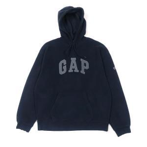 【SALE 40%off】OLD GAP ロゴ フリースパーカー ネイビー サイズ表記:L
