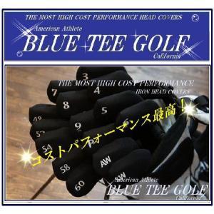 ブルーティーゴルフ 【BLUE TEE GOLF】 ストレッチ素材 オリジナル アイアン用 ヘッドカバー 【Tokyo 新橋店】