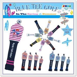 ブルーティーゴルフ BLUE TEE GOLF 【カルフォルニアストライプ AgainstPAR72】 ニットヘッドカバー