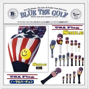 ブルーティーゴルフ BLUE TEE GOLF California 【USA フラッグ Ver,2】 ニット ヘッドカバー  【Tokyo 新橋店】