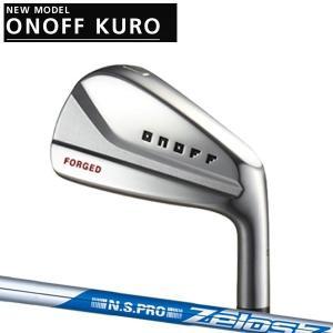 オノフ 2020年 NEW KURO 黒フォージドアイアン 5本セット(#6〜PW)[NSプロ ゼロス] Zelos 6シックス/7セブン/8エイト  ONOFF FORGED IRON KURO|forward-green