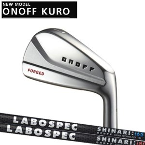 オノフ 2020年 NEW KURO 黒フォージドアイアン 本セット(#6〜PW)[ラボスペック] カーボンシャフト LABOSPEC SHINARI(シナリ)   ONOFF FORGED IRON KURO|forward-green