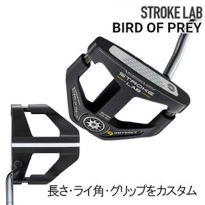 オデッセイ 20年 NEW ストロークラボ ブラック パター BIRD OF PLEY(バードオブプレイ) DB(ダブルベンド)タイプ  マレット型 ODYSSEY STROKE LAB BLACK TEN|forward-green