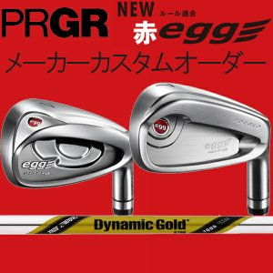 プロギア 赤 エッグPCアイアン(飛距離特化)/PFアイアン(飛距離と打感の融合) ダイナミックゴールド ツアーイシュー シリーズ  DG Tour ISSUE/X100/S200 スチール|forward-green