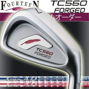 フォーティーン TC-560 フォージド アイアンセット  ツアーAD アイアン用  Tour AD-50ブルー/ピンク カーボンシャフト 5本セット(#6〜#9,PW) FOURTEEN TC560|forward-green