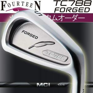 フォーティーン TC-788 フォージド アイアンセット  MCIブラック アイアン用  MCI BLACK 100/80 カーボンシャフト 5本セット(#6〜#9,PW) FOURTEEN TC788 FORGED|forward-green