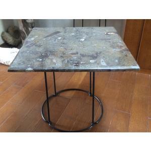 ヤフオクで好評につき再入荷致しました! モロッコ産の化石のテーブル天板のみです。脚は付属しておりませ...