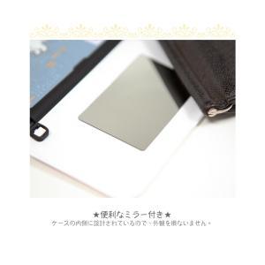 ディズニー プリンセス iPhone xs ケース iphone8 xsmax ケース Disney  カード収納 ミラー付 送料無料 iphone7 手鏡 鏡 ミラー メイク|foufou|12