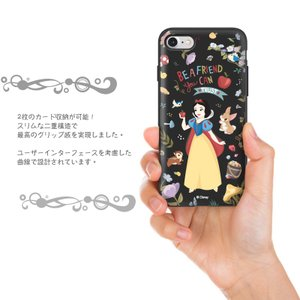 ディズニー プリンセス iPhone xs ケース iphone8 xsmax ケース Disney  カード収納 ミラー付 送料無料 iphone7 手鏡 鏡 ミラー メイク|foufou|09