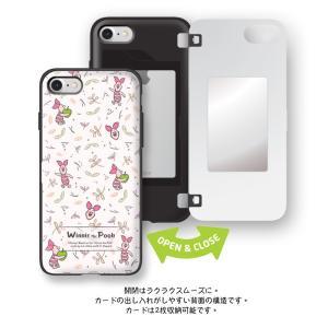 iphone xs ケース くまのプーさん ピグレット pooh WINNIE THE POOH ディズニー カード収納ミラー付ケース iPhonexsmax ケース  手鏡 鏡 ミラー|foufou|10