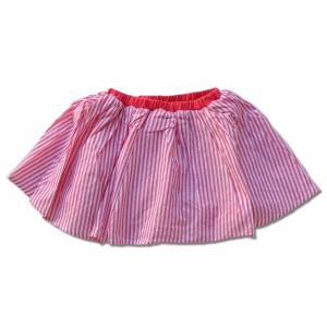爽やかなストライプ柄のフレアースカートです。 スカートは薄手で軽いブロード生地を使用していますので、...