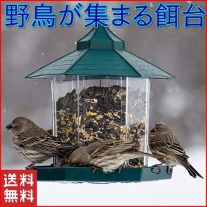 バードフィーダー バードウォッチング 野鳥の餌台 鳥小屋 鳥かご 庭 ガーデン おしゃれ 野鳥 給餌器 餌台 餌場 えさ台 吊下げグリーン|four-piece