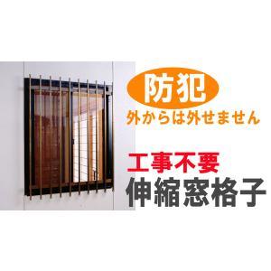 窓格子 幅142×高さ65〜90cm E3715 送料無料(沖縄・離島不可)窓ガード 面格子 |fourleaf