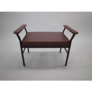 【完売】スチール玄関ベンチ(ブラウン・組立式)アウトレット品 送料無料 (沖縄・離島不可)玄関椅子 スツール サポートチェア 介護用補助椅子 いす イス|fourleaf