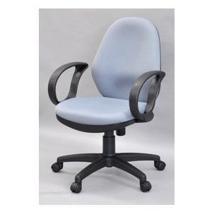 肘付きワークチェア グレー 送料無料 (沖縄・離島不可) OAチェア オフィスチェア 学習椅子 書斎椅子|fourleaf