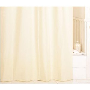 シャワーカーテン ホワイト(薄いイエロー)幅130x長さ180cm ヒルズ 浴室カーテン 防カビ  フルネス fourleaf
