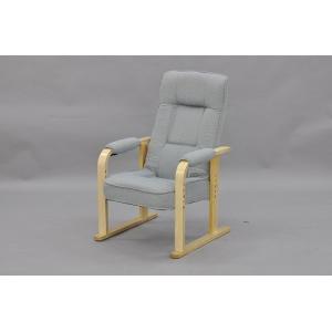 リビングチェア グレー 送料無料(沖縄・離島不可)組立椅子 立ち上り楽椅子 1人掛け椅子 高座椅子(大)|fourleaf