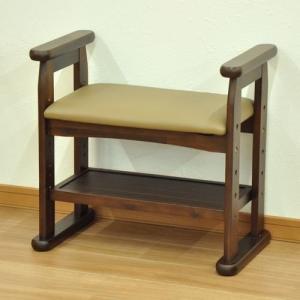 木製玄関椅子 組立式 スツール サポートチェア 立上り楽座椅子 高座椅子 介護用品 椅子 ベンチ いす イス リードスツール|fourleaf