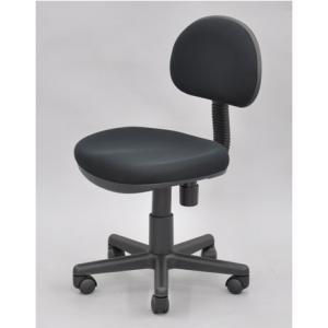 ワークチェア 「 ブラック 」 送料無料(沖縄・離島不可)OAチェア オフィスチェア 学習椅子 書斎椅子 昇降式 いす イス 椅子|fourleaf
