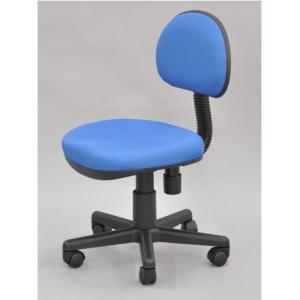 ワークチェア 「 ブルー 」 送料無料 OAチェア オフィスチェア 学習椅子 書斎椅子 昇降式 いす イス 椅子|fourleaf