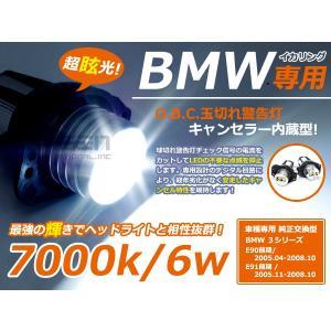 【送料無料】BMW用 LEDイカリング 交換バルブ  キャンセラー内臓 白 ホワイト ポジション球 交換用 BM イカリング E90 E91 3シリーズ【バーナー ライト|fourms