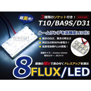 【送料無料】 基盤ルームランプ 8連 FLUX 2X4 31mm×15mm ホワイト基盤 LED 板LED プレート カーテシ ルームランプ 室内灯 車内灯 など 【LEDバルブ 電球|fourms