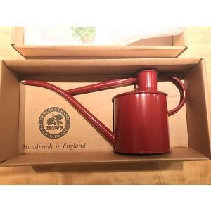 じょうろ メタルインドアカン 1.0L バーガンディ 英国製 HAWS ホーズ ジョウロ|fourseasons