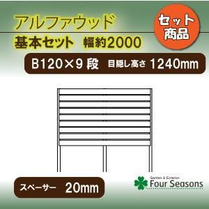 基本セットB120・9段 スペーサー20mm ディーズガーデン アルファウッド 横張タイプ|fourseasons