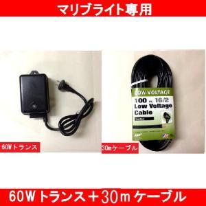 電源トランス60W+専用ケーブル30m 【B-054S-30】ガーデンライト用|fourseasons