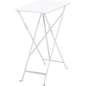 ビストロテーブル37×57 01ホワイト ガーデンファニチャー フェルモブ ビストロシリーズ|fourseasons