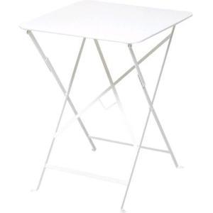 ビストロテーブル57×57 01ホワイト ガーデンファニチャー フェルモブ ビストロシリーズ|fourseasons
