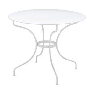 オペラテーブル96 01ホワイト ガーデンファニチャー フェルモブ|fourseasons