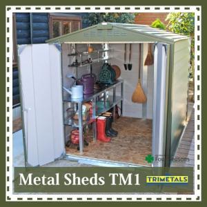 TM1 ガーデナップ メタルシェッド 大型物置 倉庫|fourseasons
