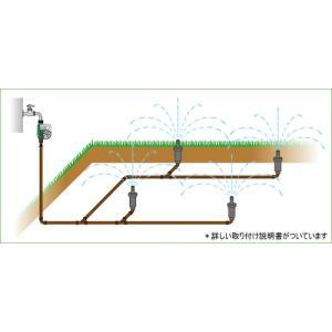 芝生用自動散水キット 散水時のみ地表に表れ散水する!|fourseasons