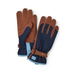 手袋 グローブ ガーデニング ガーデングローブ バーゴン&ボール デニム生地|fourseasons