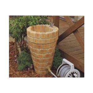 水栓柱 立水栓ユニット コーンタイプ 2口仕様 レンガ模様 ブライトイエロー (蛇口別売り)|fourseasons