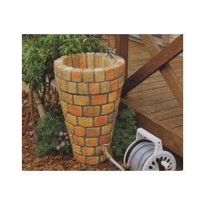 水栓柱 立水栓ユニット コーンタイプ 2口仕様 レンガ模様 ミックス (蛇口別売り)|fourseasons
