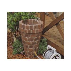 水栓柱 立水栓ユニット コーンタイプ 2口仕様 レンガ模様 トランスブラウン (蛇口別売り)|fourseasons