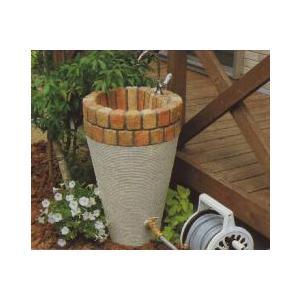 水栓柱 立水栓ユニット コーンタイプ 2口仕様 コテ引き模様 ミックス+アイボリー (蛇口別売り)|fourseasons