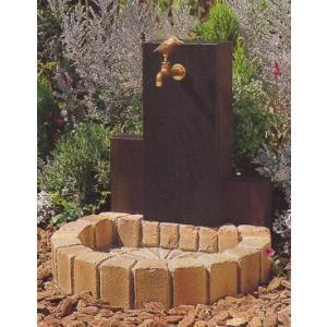 水栓柱 立水栓ユニット ウッドクリートタイプA 1口仕様 イエロー 蛇口別売り|fourseasons