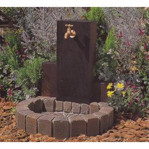 水栓柱 立水栓ユニット ウッドクリートタイプA 1口仕様 ブラウン 蛇口別売り|fourseasons