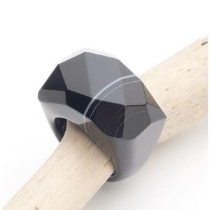オニキスリング16.5-17号 Onyx Ring 8(US)|fourstones