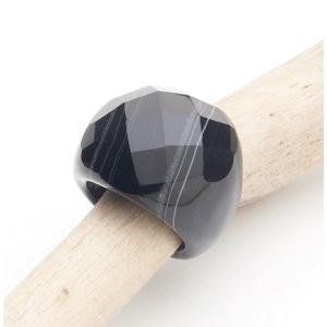 オニキスリング13号 Onyx Ring 6.5(US)|fourstones