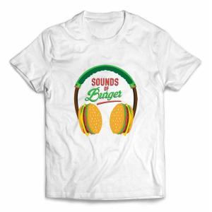 【ヘッドフォン ヘッドホン ハンバーガー】キッズ 半袖 Tシャツ by Fox Republic