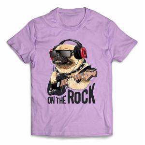 【パグ 犬 いぬ ギター ロック ヘッドホン  ヘッドフォン】キッズ 半袖 Tシャツ by Fox ...